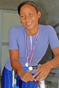 Dariuska aspira a seguir el ejemplo de Lisandra Guerra, principal exponente del ciclismo de pista cubano a nivel internacional.